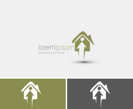 Symbol of Home Security, isolated vector design