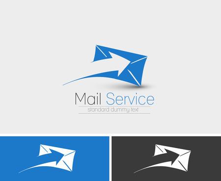 Symbool van Mail Service, geïsoleerde vector design Vector Illustratie