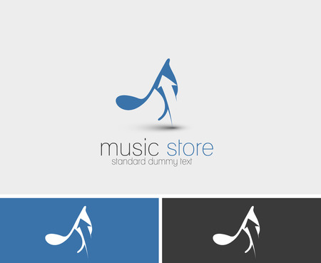 notation: Music Store Symbol Vector Illustration.