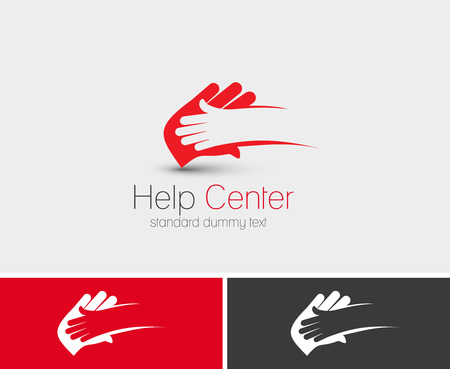 Symbol of Help Center, isolated vector design Çizim