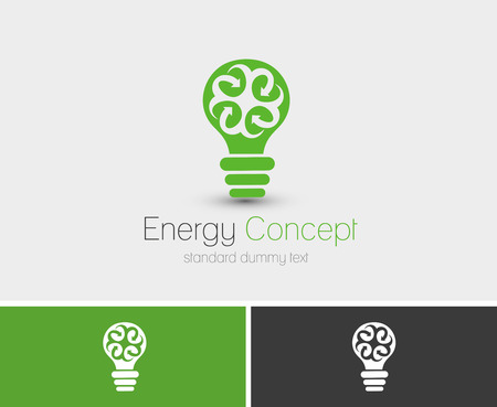 Symbol of Energy Concept, isolated vector logo design  Vector
