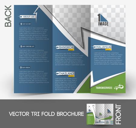Travel Service Tri-Fold Brochure Design.