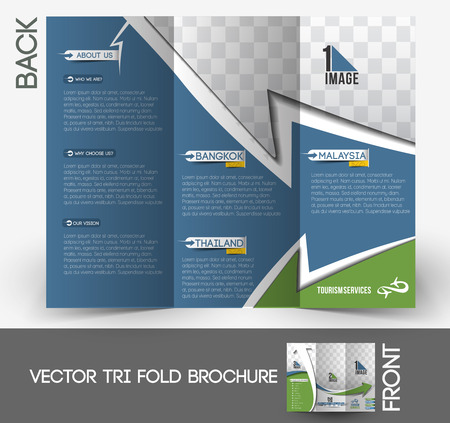 tri fold: Travel Service Tri-Fold Brochure Design.