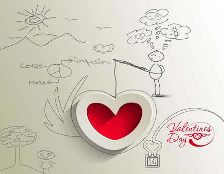 Abstract valentines day background with hearts, eps10 vector