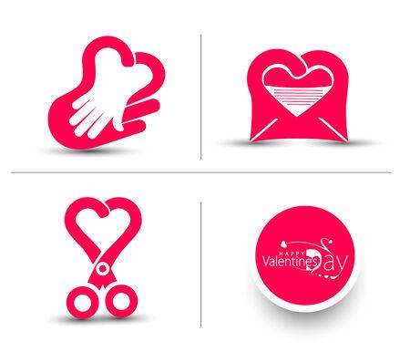help symbol: Set of Valentine Day Heart Design