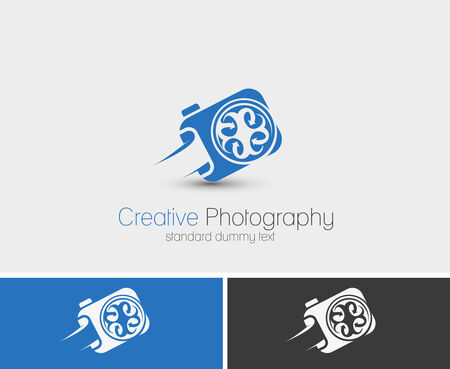 Symbol of Camera, Vector Photographer logo design Vector
