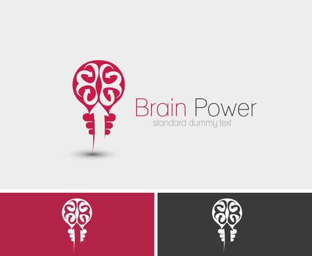 Symbol of Brain Power, isolated vector design