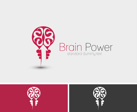 brain power: Symbol of Brain Power, isolated vector design