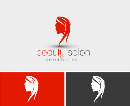 hair dresser: Symbol of beauty salon, isolated vector design