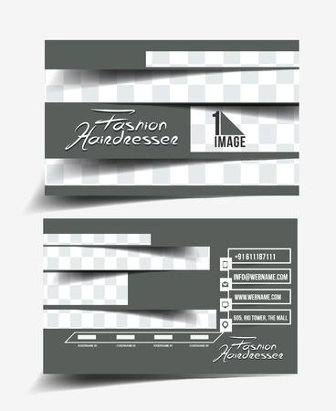 Hair Dresser & Salon Business Card Mock up Design Vector