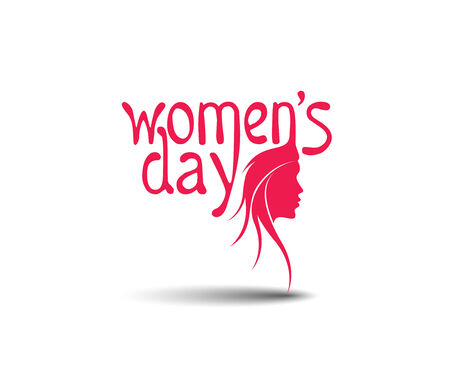 Happy Womens Day Design Element.  Vector
