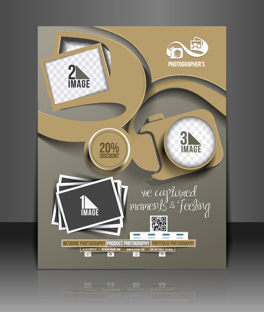 Photography Studio Flyer & Poster Template  Vector