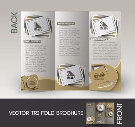 Studio de photographie Pliage Brochure Mock Up Design.