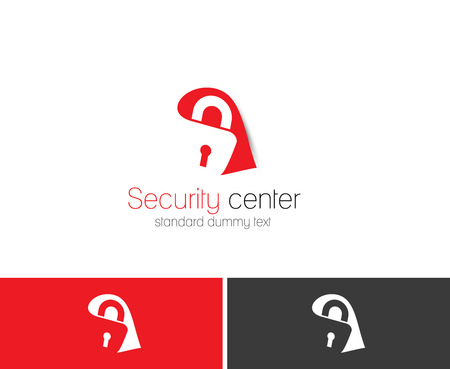 Symbol of Home Security, isolated vector logo design