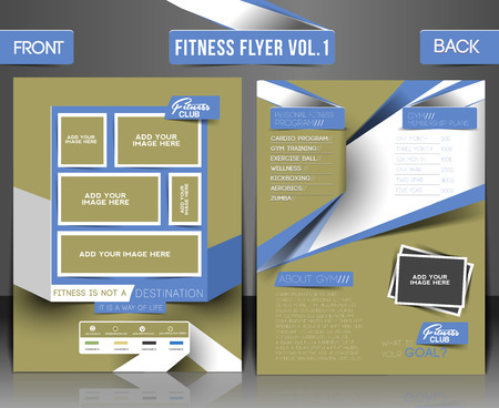 fitness center: Fitness Center Front Flyer & Poster Template