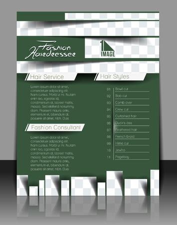 Hairdresser & Beauty Salon Flyer Template Design  Vector