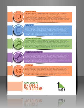 laptop repair: Tech Multipurpose Business  Flyer Template.  Illustration