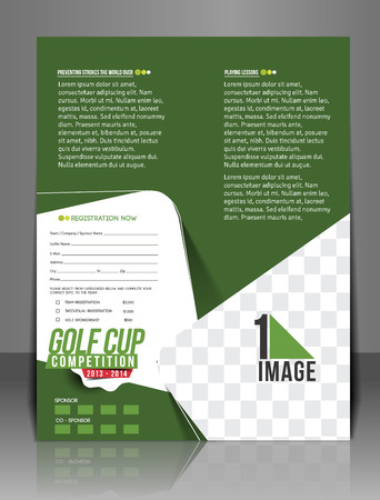 Golf Tournament Flyer Template Design Royalty Free Cliparts Vectors