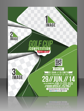 Golf Tournament Flyer Template Design