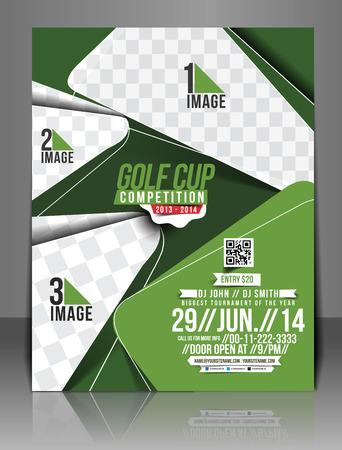 golf hole: Golf Tournament Flyer Template Design