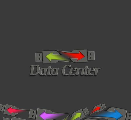 Data Center Logo Template Design.  Vector