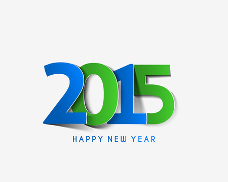 merry christmas and happy new year: Happy new year 2015 Text Design Illustration