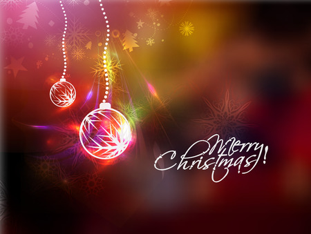 boll: Christmas Boll in the blur background with space for text
