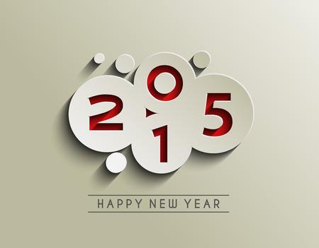 felicitaciones navide�as: Feliz A�o Nuevo 2015 de fondo Vectores