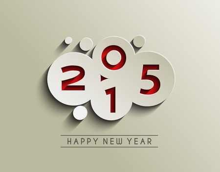 a holiday greeting: Happy New Year 2015 Background Illustration