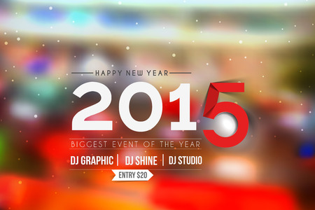 New Year Party Flyer & Poster Template Vector