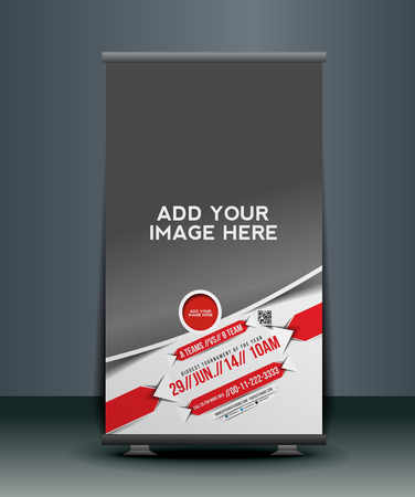cut the competition: Boxing Competition Roll Up Banner Design