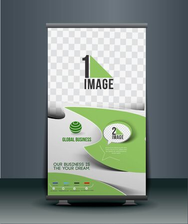 Corporate Business Roll Up Banner Design Vector