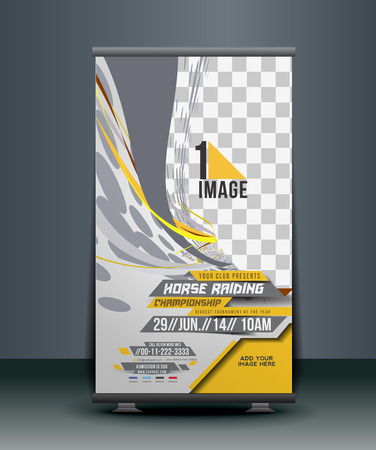 racing sign: Horse Riding Roll Up Banner Design