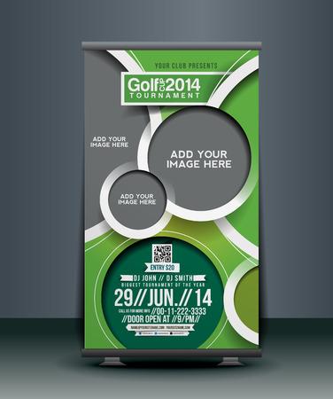 Compétition de golf Roll Up Design bannière