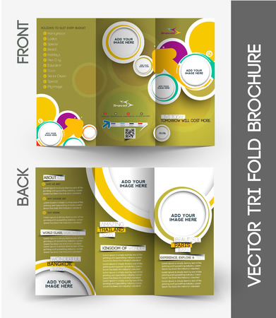 invitation barcode: Travel Agent Tri-Fold Mock up & Brochure Design