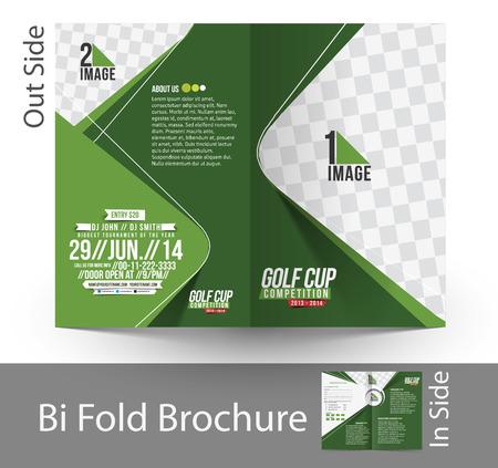 corporate event: Golf Tournament Bi-Fold Mock up & Brochure Design