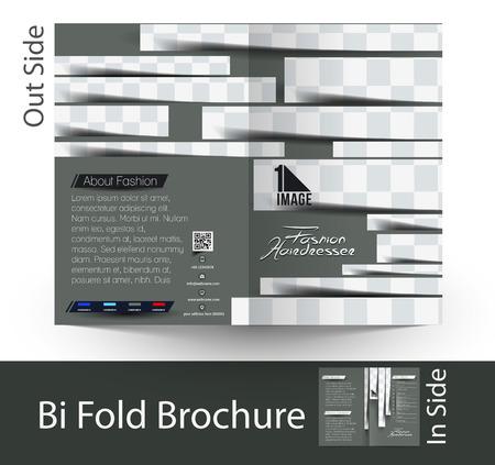 Hairdresser & Beauty Salon Bi-Fold Brochure Design