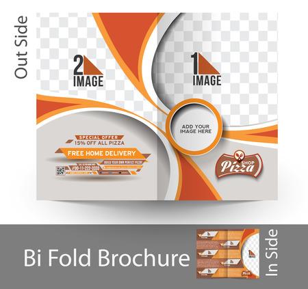 delivery service: Pizza Shop Bi-Fold Mock up & Brochure Design