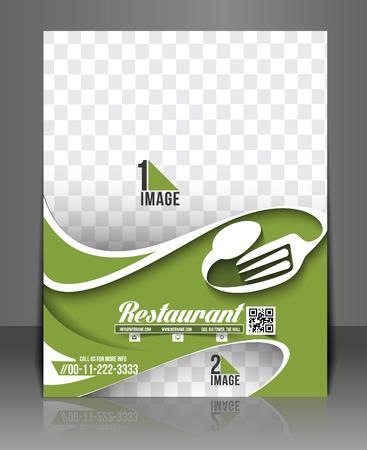 Restaurant & Hotel Flyer & Menü-Karten-Schablone