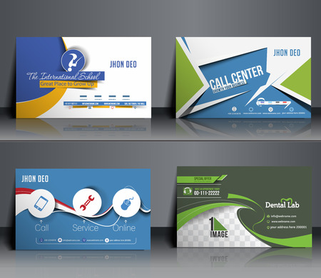 call card: Business Card Mock up Design Template.