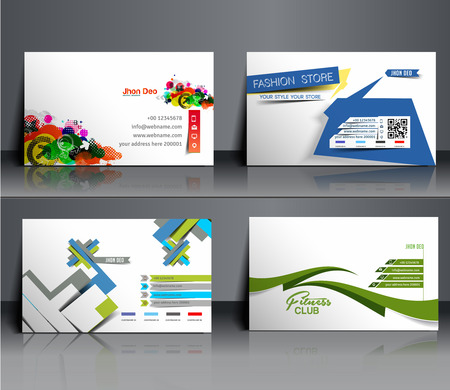 service card: Business Card Mock up Design Template.