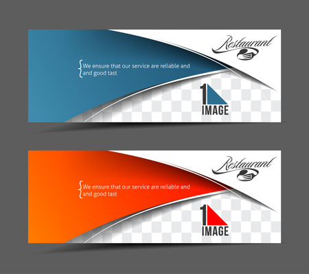 Modern Restaurant Business Design Banner Template Illustration