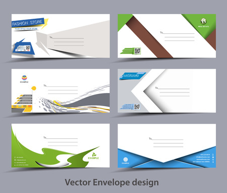 Set Of Paper Envelope Templates For Your Project Design Royalty Free ...
