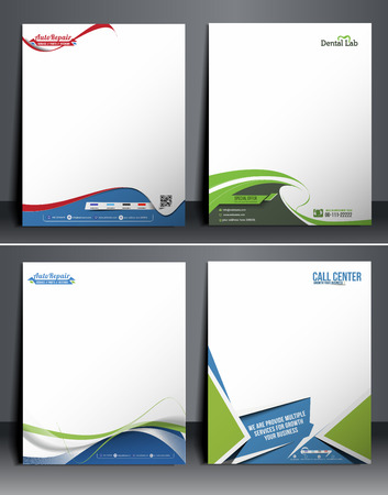 letterhead design: Set of Business Style Corporate Identity Template.