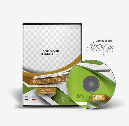 dvd case: Fashion Traning DVD Case and Disc Design