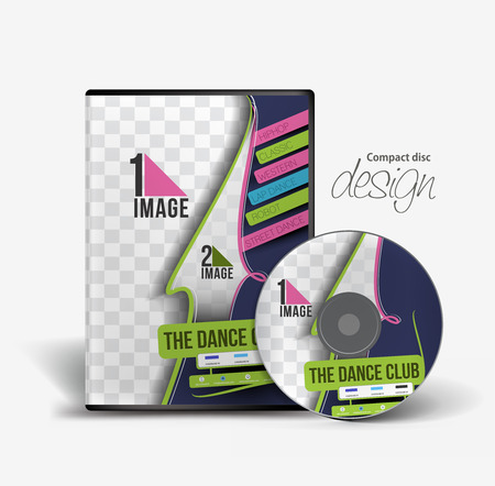 dvd case: Dance Academy Traning DVD Case and Disc Vector Design Illustration