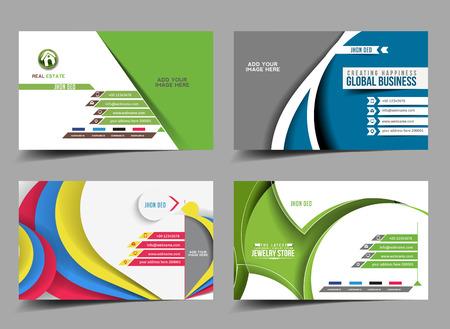 Business Card Mock up Template Design Illustration