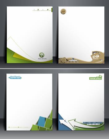 letter head: Nine Business Style Corporate Identity Leterhead Template.