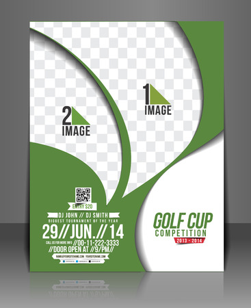 Golf-Turnier Flyer & Plakat-Schablone