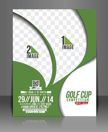 Torneo de Golf Flyer y Cartel de plantilla
